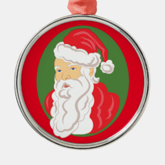 Ornamento De Metal Cameo de Papai Noel do Natal