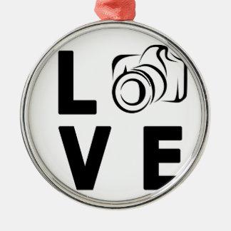 Ornamento De Metal câmera e amor