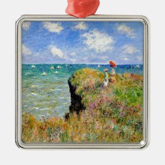 Ornamento De Metal Caminhada de Clifftop em Pourville - Claude Monet