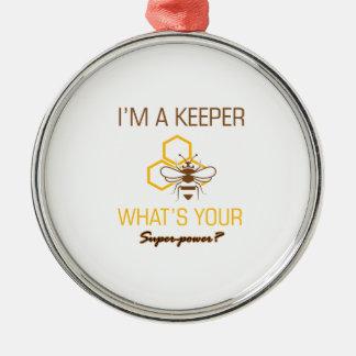 Ornamento De Metal Camiseta do depositário da abelha