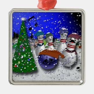 Ornamento De Metal Canção de natal do Natal da boliche