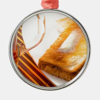 Ornamento De Metal Caneca de chá e de brinde quente com manteiga