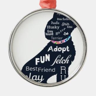 Ornamento De Metal Cão azul