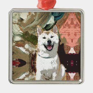 Ornamento De Metal Cão de Akita Inu