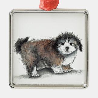 Ornamento De Metal Cão de filhote de cachorro de Shihtzu, animal de