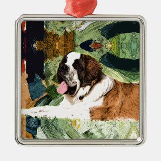 Ornamento De Metal Cão de St Bernard