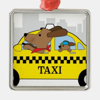 Ornamento De Metal Cão do táxi de New York