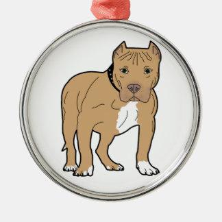 Ornamento De Metal Cão personalizado de Pitbull do americano