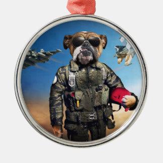 Ornamento De Metal Cão piloto, buldogue engraçado, buldogue
