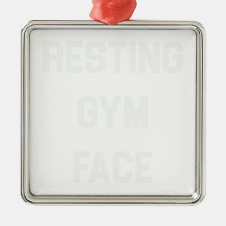 Ornamento De Metal Cara de descanso do Gym
