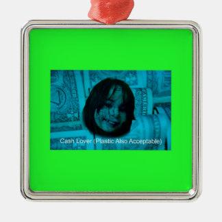Ornamento De Metal Cara do dinheiro do amante do dinheiro (plástico