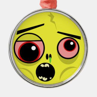 Ornamento De Metal Cara do zombi