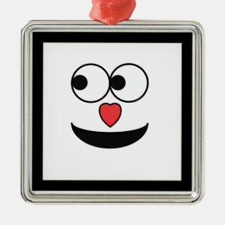 Ornamento De Metal Cara feliz do nariz entusiasta