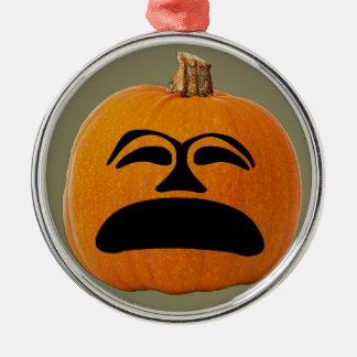 Ornamento De Metal Cara infeliz da lanterna do o de Jack, abóbora do