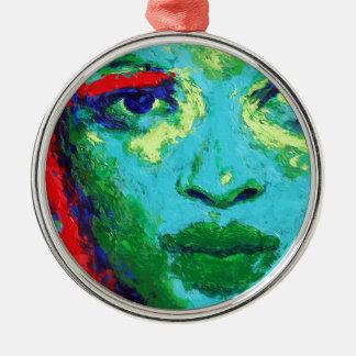 Ornamento De Metal Cara verde