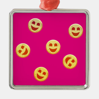 Ornamento De Metal caras felizes dos biscoitos