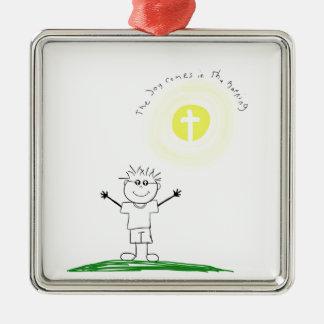 Ornamento De Metal Caráter cristão bonito com escritura