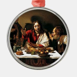 Ornamento De Metal Caravaggio - ceia em Emmaus - pintura clássica