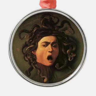 Ornamento De Metal Caravaggio - Medusa - trabalhos de arte italianos