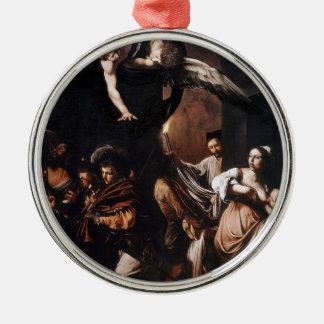 Ornamento De Metal Caravaggio - os sete trabalhos da pintura do