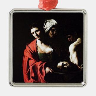 Ornamento De Metal Caravaggio - Salome - trabalhos de arte barrocos