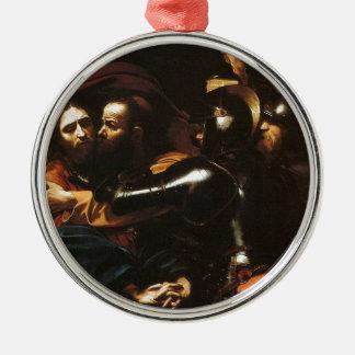 Ornamento De Metal Caravaggio - tomada do cristo - trabalhos de arte