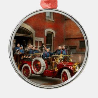 Ornamento De Metal Carro de bombeiros - o esquadrão 1911 do vôo