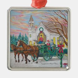 Ornamento De Metal Carruagem do Natal do passeio do trenó