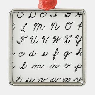 Ornamento De Metal carta cursive da escrita