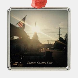 Ornamento De Metal Cartão do feriado de Geauga County justo, Ohio