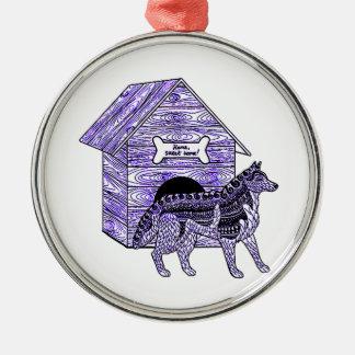 Ornamento De Metal Casa de cachorro