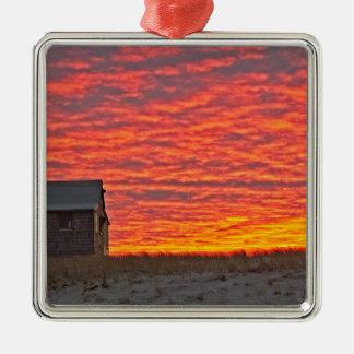 Ornamento De Metal Casa no por do sol - 2