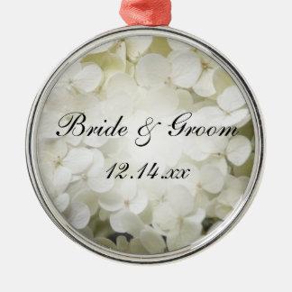 Ornamento De Metal Casamento floral do Hydrangea branco