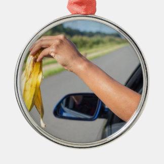 Ornamento De Metal Casca deixando cair do braço da janela de carro da