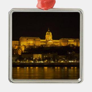 Ornamento De Metal Castelo Hungria Budapest de Buda na noite