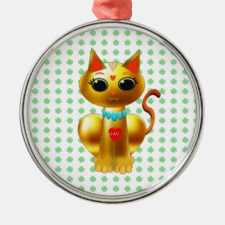 ORNAMENTO DE METAL CAT DA FORTUNA