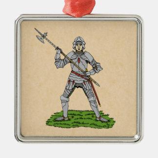 Ornamento De Metal Cavaleiro inglês do século XV