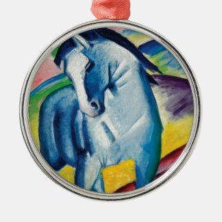 Ornamento De Metal Cavalo azul mim por Franz Marc