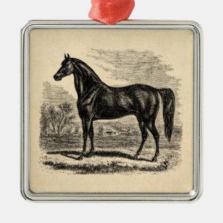 Ornamento De Metal Cavalo dos 1800s do vintage - modelo do Equestrian