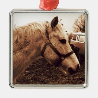 Ornamento De Metal Cavalo e ônibus Dappled