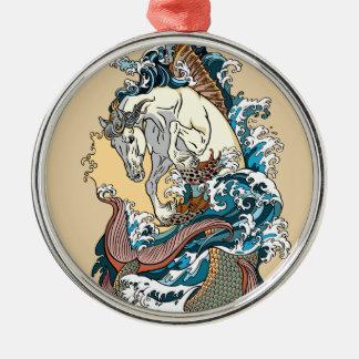 Ornamento De Metal cavalo marinho mitológico