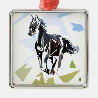 Ornamento De Metal Cavalo preto
