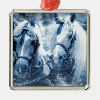 Ornamento De Metal cavalos