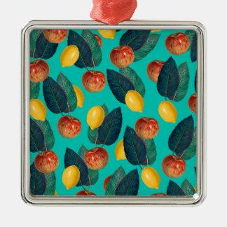Ornamento De Metal cerceta das maçãs e dos limões