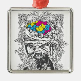 Ornamento De Metal cérebros da cor do vintage