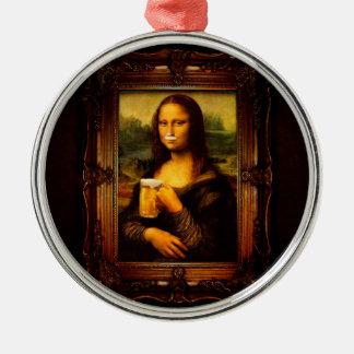 Ornamento De Metal Cerveja de Mona lisa - de Mona lisa - lisa-cerveja