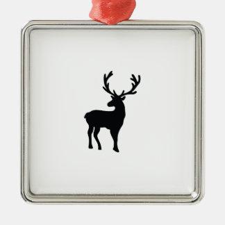 Ornamento De Metal Cervos preto e branco