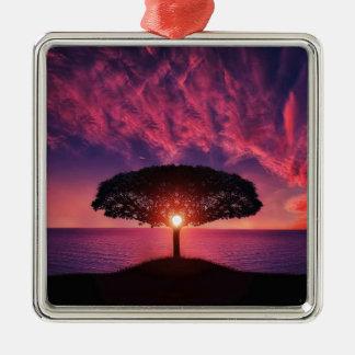 Ornamento De Metal Céu cor-de-rosa