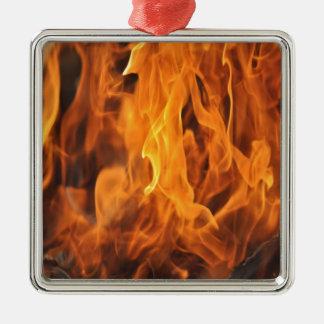 Ornamento De Metal Chamas - demasiado quentes a segurar