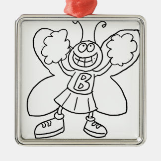 Ornamento De Metal Cheerleader da borboleta